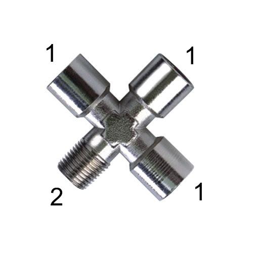 X-šroubení s vnitřními závity a vnějším závitem