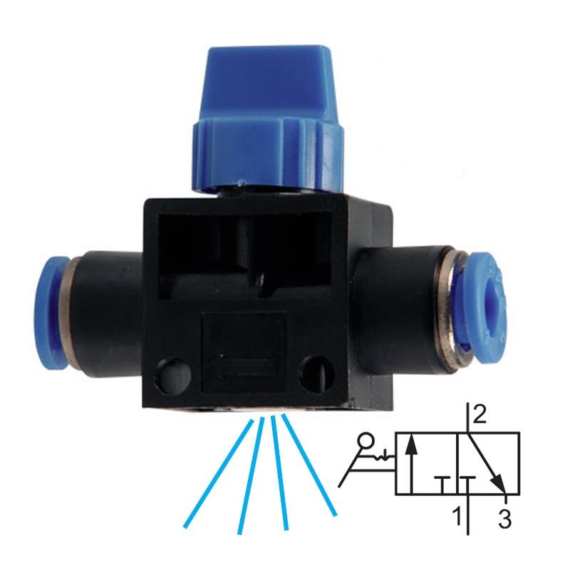 Uzavírací ventil s odvětráním