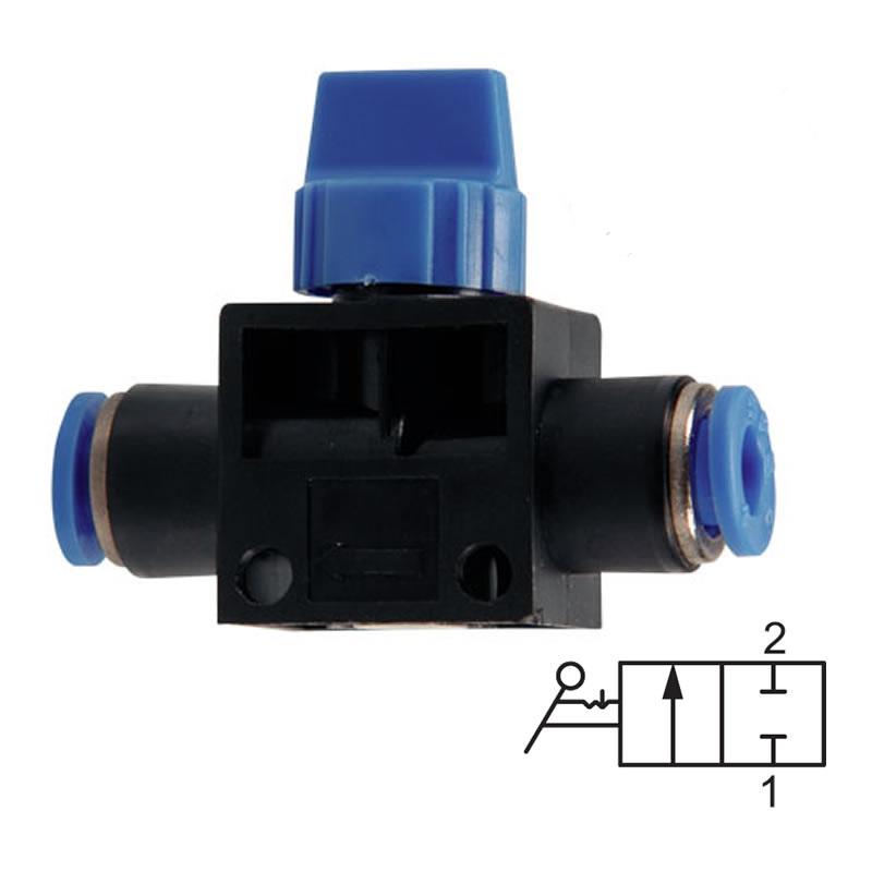 Uzavírací nástrčný ventil bez odvětrání