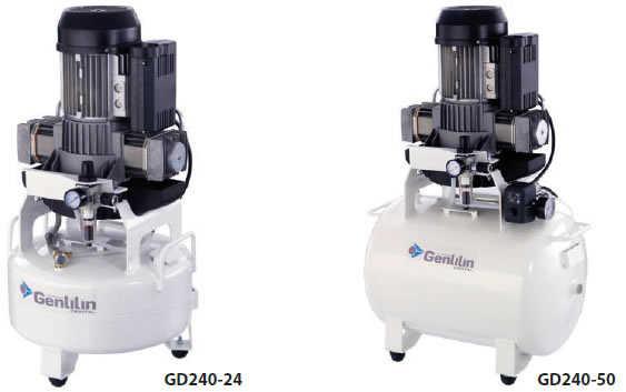 Kompresory pro 2-3 dentální křesla