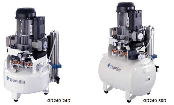 Kompresory pro 2-3 dentální křesla GD240
