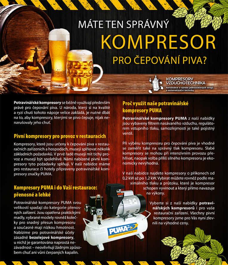 Pivní kompresory