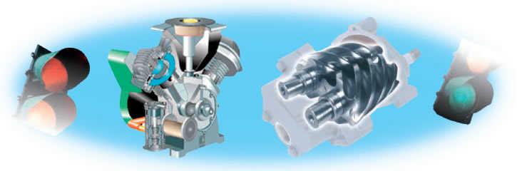 Šroubový nebo pístový kompresory