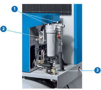 Filtrace šroubového kompresoru
