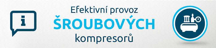 Efektivní provoz šroubových kompresorů