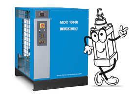 Charakteristiky kondenzačních sušiček MDX: