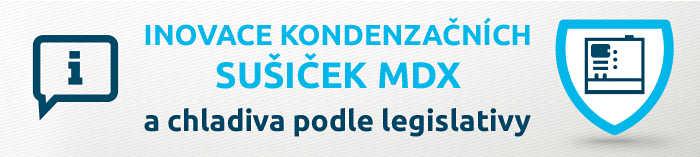 Inovace kondenzačních sušiček MDX a chladiva podle legislativy EU