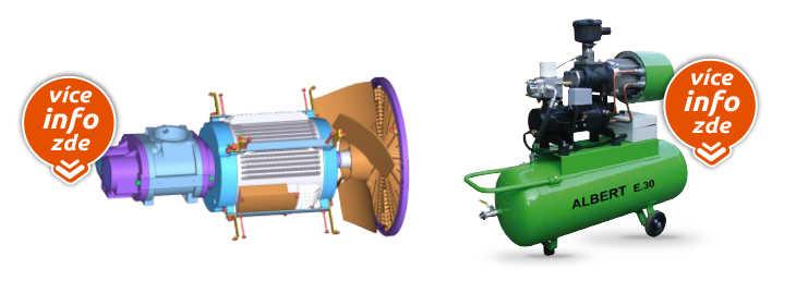 Kompresory s přímým spojením šroubového bloku a elektromotoru