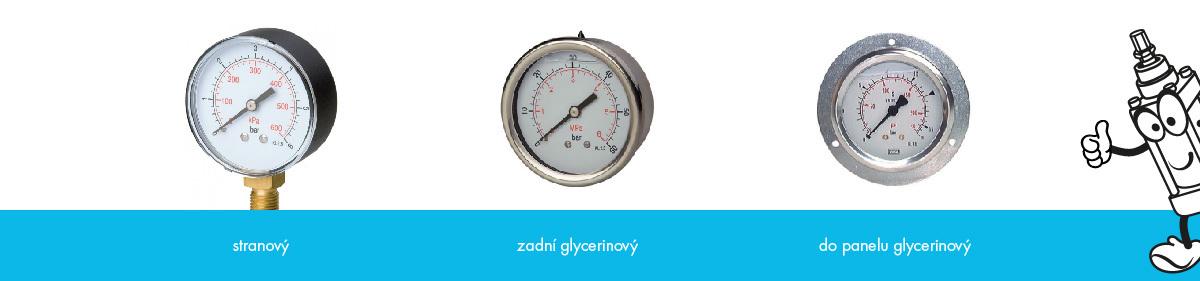 druhy manometru tlak rozvod vzduch měření