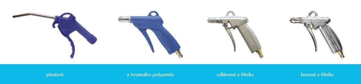 Ofukovací pistole provedení