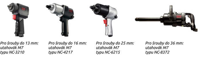 Pro šrouby do 13 mm: utahovák M7 typu NC-3210
