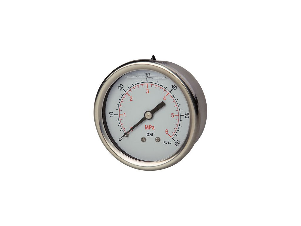 Manometr glycerinový zadní 0/600 bar - G1/4