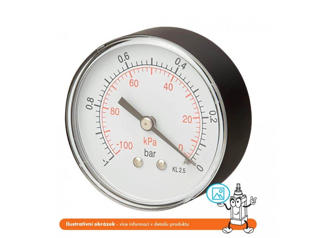 Manometr zadní -1/0 bar - 63 - M12x1,5