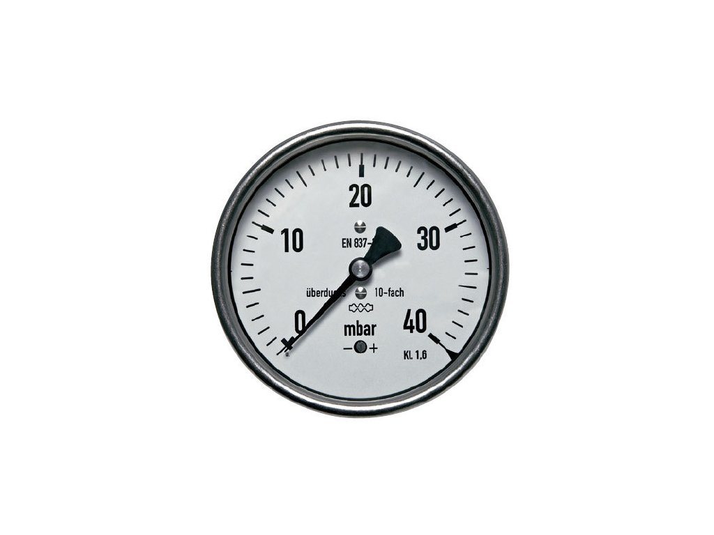 Manometr nízkotlaký zadní 0/160 mbar - 63 - 1/4