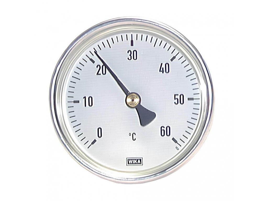 Teploměr hliníkový 100mm -30°C/+50°C jímka 100mm