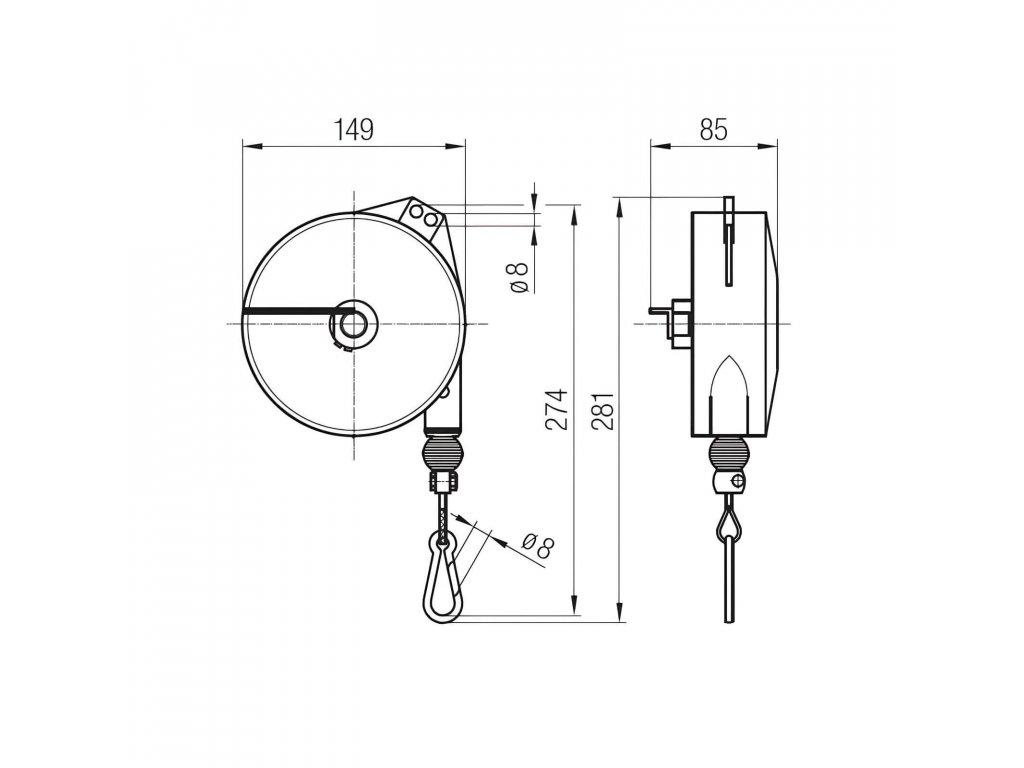 Balancér BA-932 - 6/8kg - 2 000mm