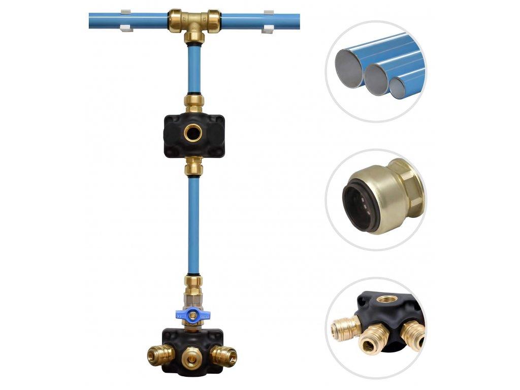 Ukončovací krabice pro rozvod vzduchu G3/4 - 3 x G3/4