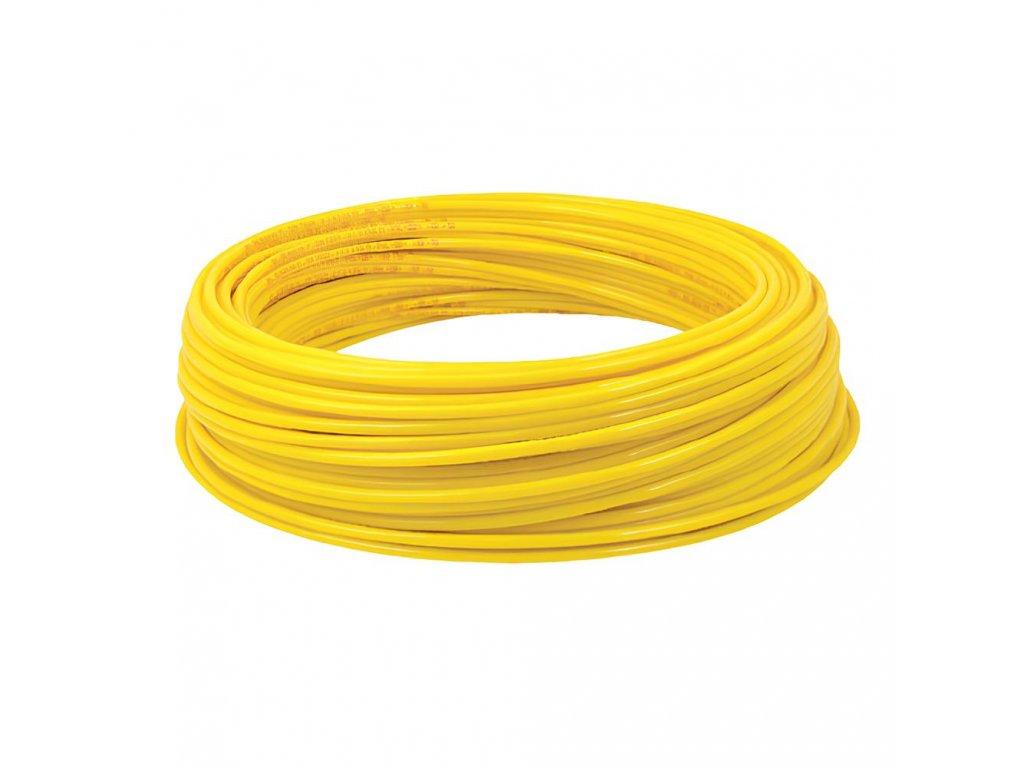 Hadička z polyamidu PA12 žlutá 8/6 mm