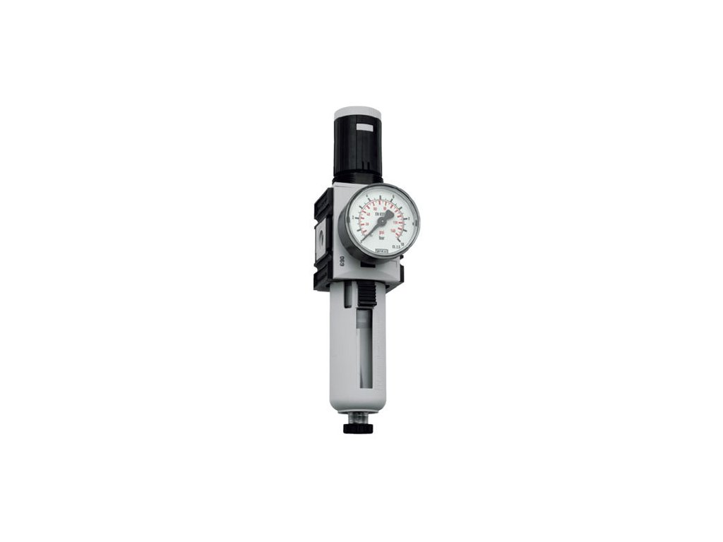 "Regulátor tlaku s filtrem 1/4"", 0,5 - 16 bar, 2 000l/min"