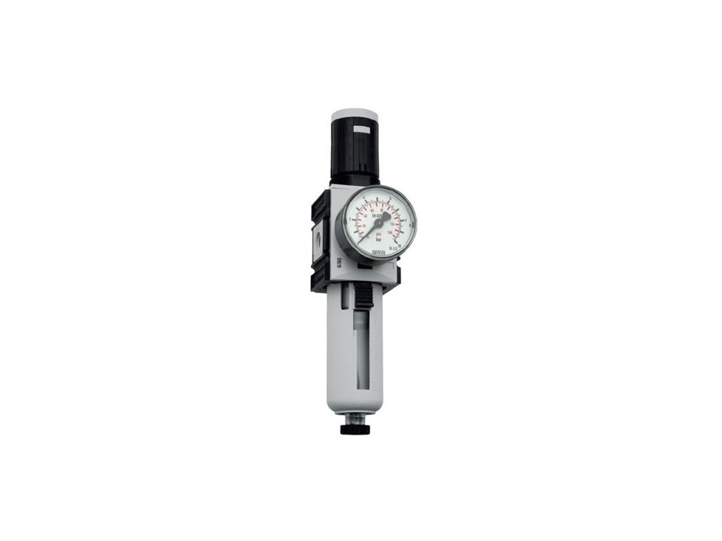 "Regulátor tlaku s filtrem 3/8"", 0,5 - 16 bar, 4 300l/min"