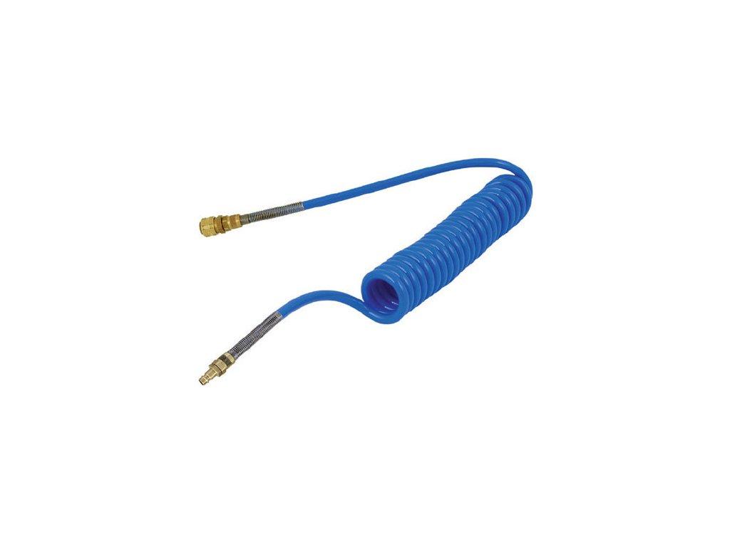 Spirálová hadice PUBM s rychlospojky 6/4 mm - délka 3 m