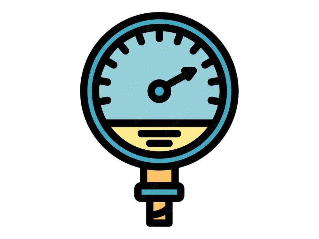 Manometr pro kyslík stranový 16 bar - 1/4 - 63