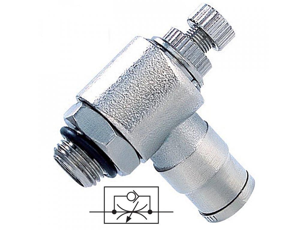 Rohový škrtící ventil na odfuku 6 - G1/8