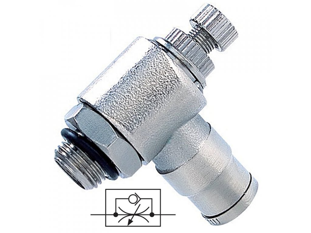 Rohový škrtící ventil na odfuku 8 - G1/4
