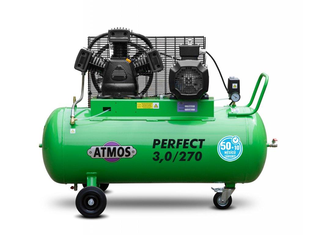 Pístový kompresor Perfect - 3/270  + prodloužená záruka + Olej Atmos zdarma