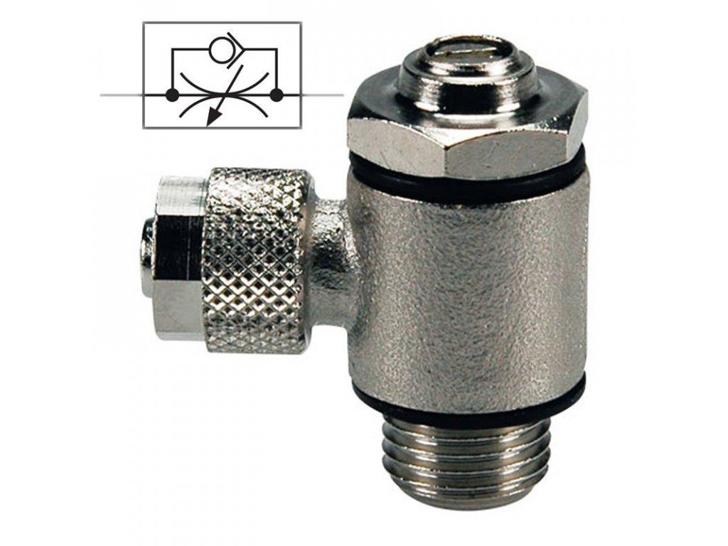Škrtící ventil na odfuku 6/4 - M5