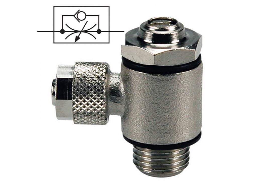 Škrtící ventil na přívodu 6/4 - G1/8