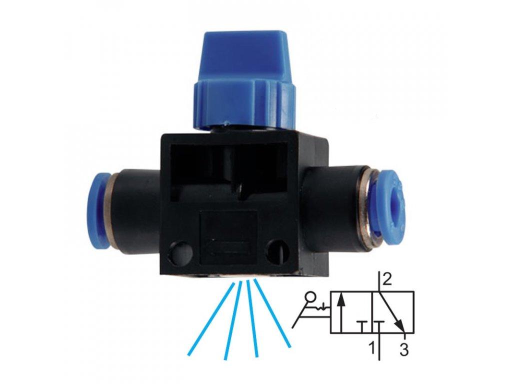 Uzavírací ventil s odvětráním 12