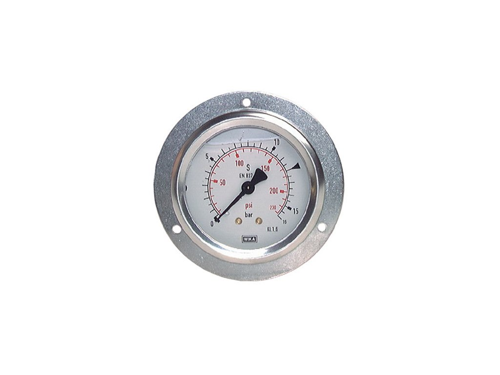 Manometr do panelu glycerin 0/160 bar - 1/2 - 100