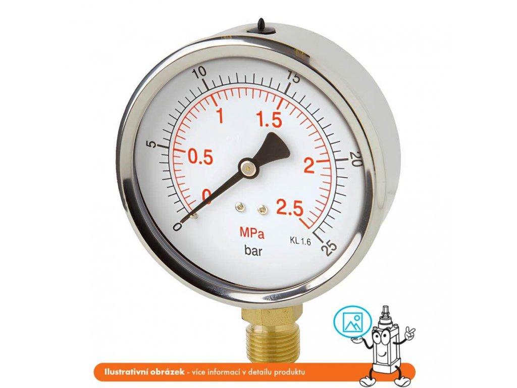 Manometr robustní stranový 0/600 bar - 100 - M20x1,5