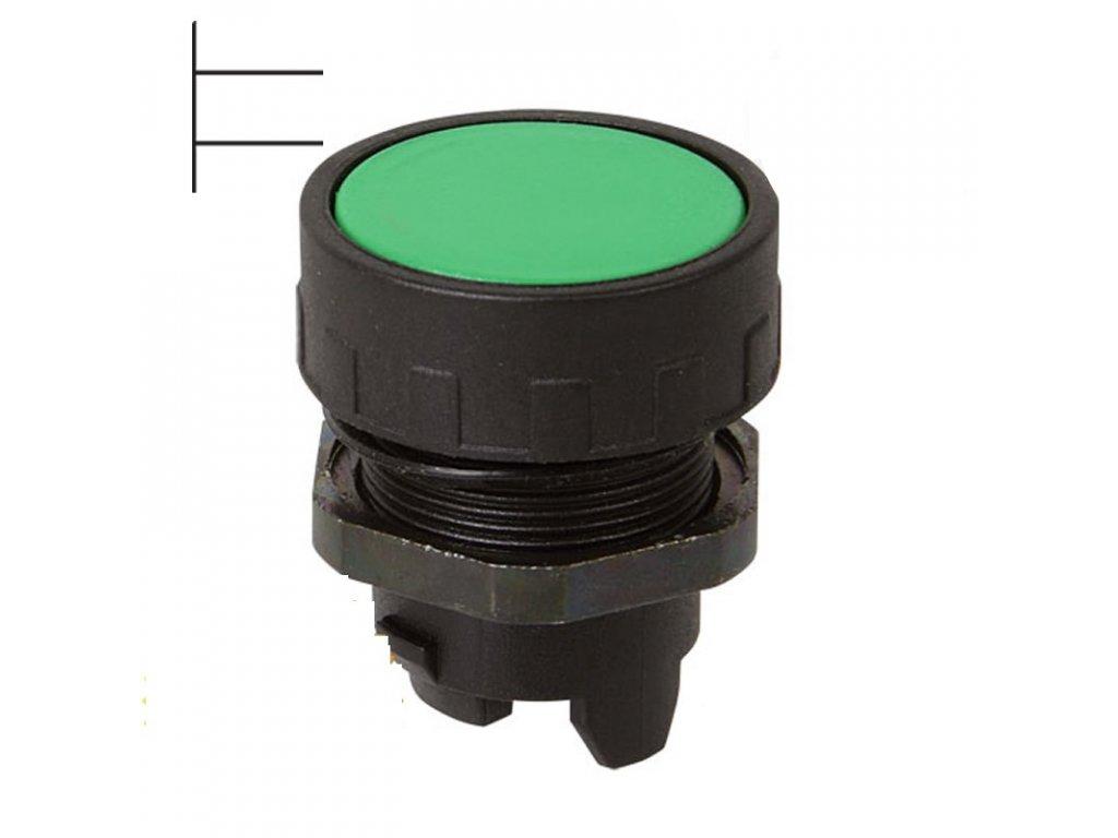 Tlačítko stiskací černé AP11N