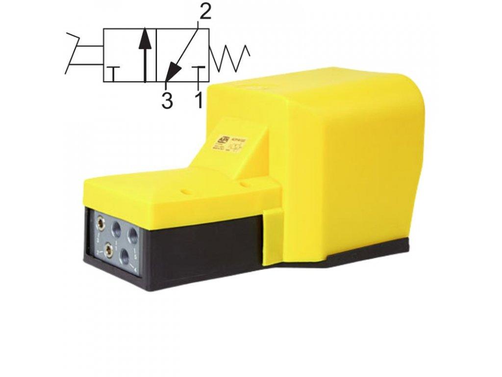 avp230 nozni ventil vzduch pedal automatizace