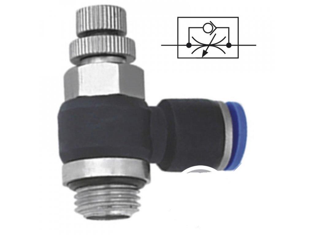 """Úhlový škrtící ventil 12 - G 3/8"""""""