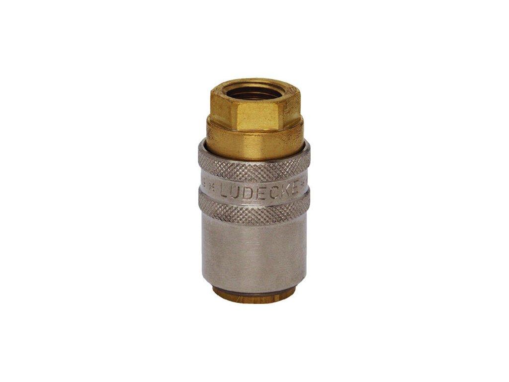 """Rychlospojka s přímým vnitřním závitem G1/4"""" s ventilem"""