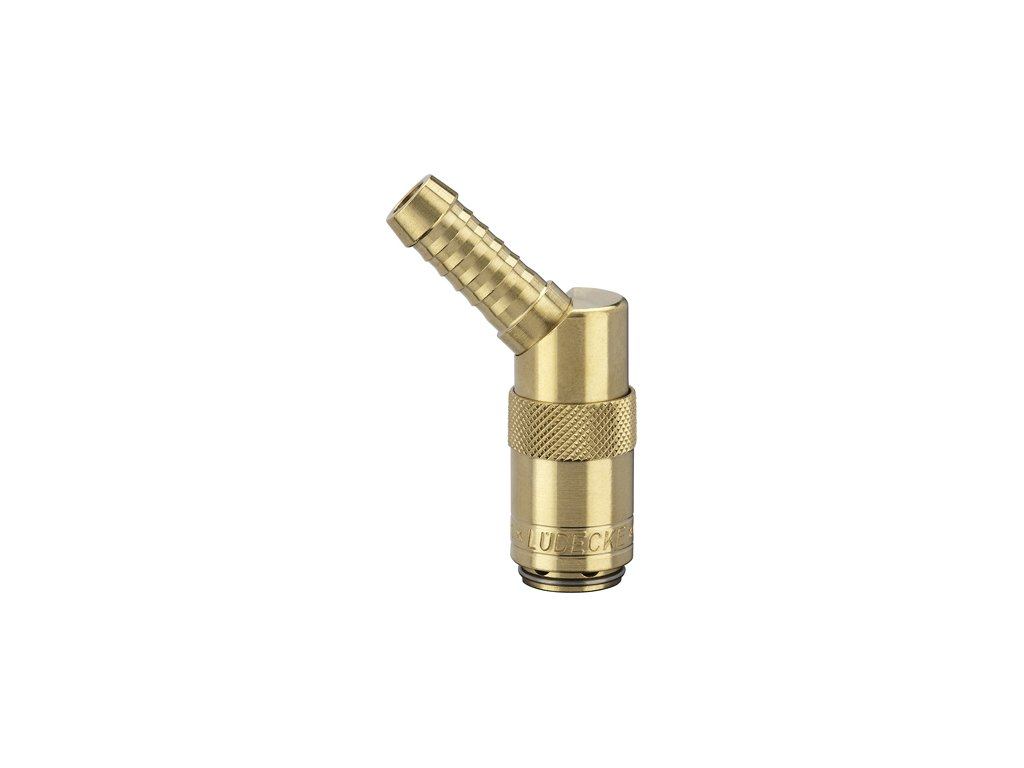 Rychlospojka s 45° trnem pro standardní hadici 6mm s ventilem