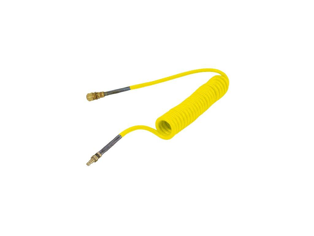 Spirálová hadice PUBY s rychlospojky 12/8 mm - délka 4 m