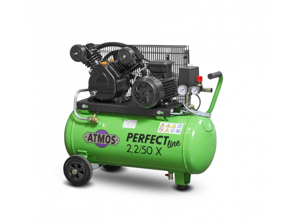 Pístový kompresor Perfect Line 2,2 kW - 50l X  + prodloužená záruka + Olej Atmos zdarma