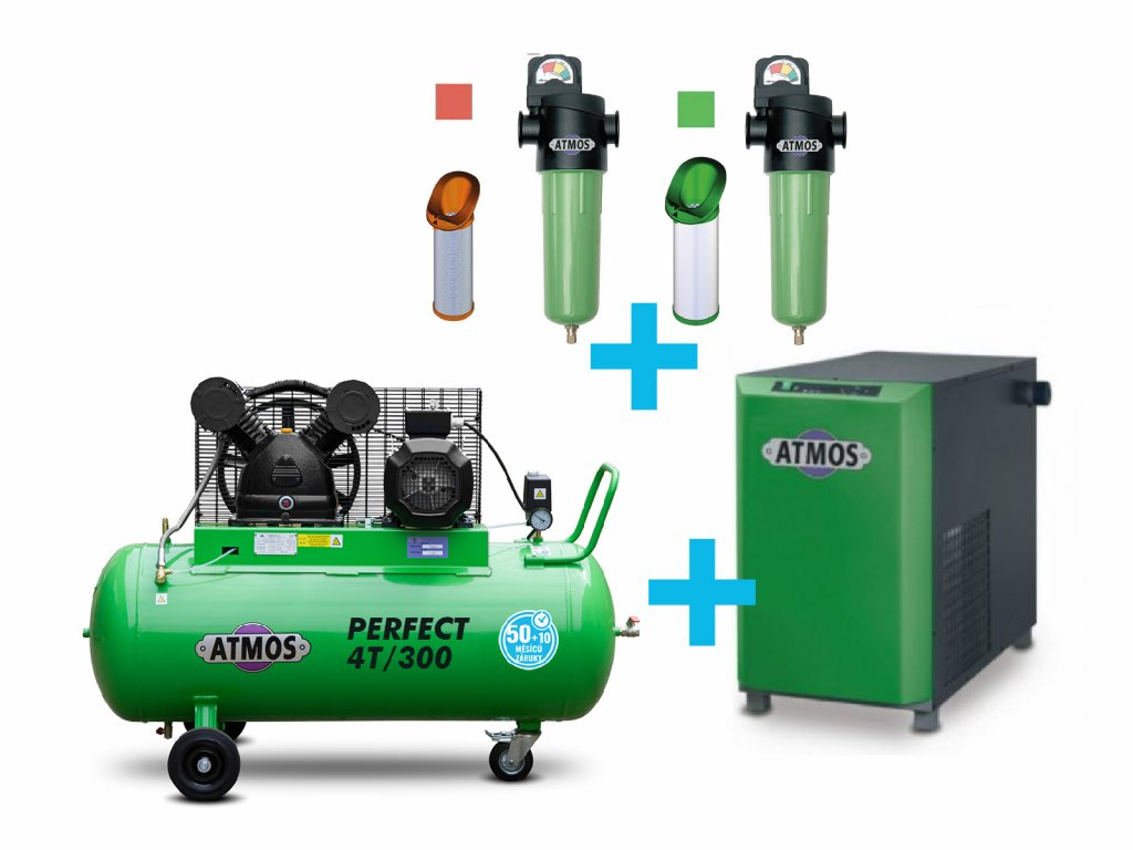 4 T 300 pistovy kompresor atmos perfect