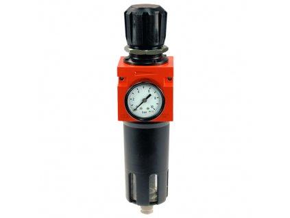 "Regulátor tlaku s filtrem kovový do 18 bar - 1/4"""