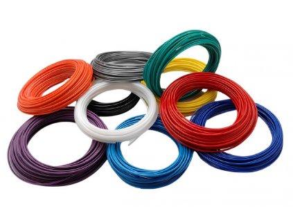 Dvojitá hadička z polyuretanu modrá-černá 12/9 mm