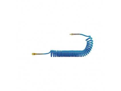 Spirálová hadice PU s rychlospojky 6/4 mm - délka 3 m