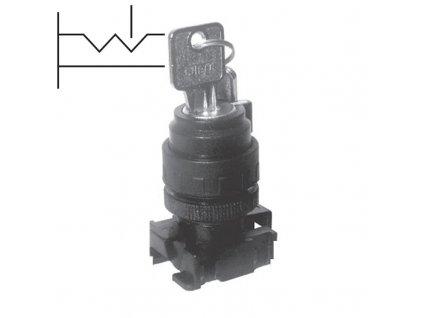 Přepínač s klíčkem 2-polohový AP42C