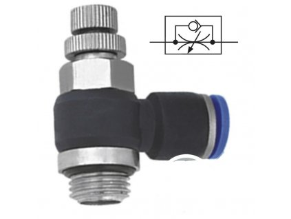 """Úhlový škrtící ventil 8 - G1/4"""""""