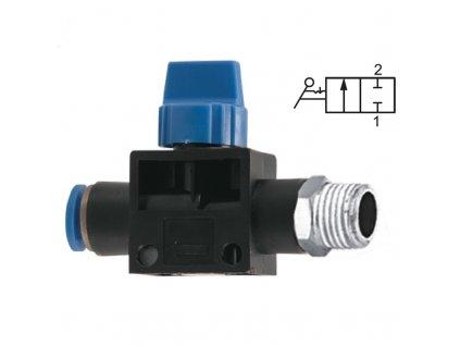 """Uzavírací ventil bez odvětrání 6 - G1/8"""""""