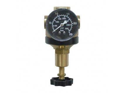 """Regulátor tlaku 1/4"""", 1 400 l/min, 0,5-12 bar"""