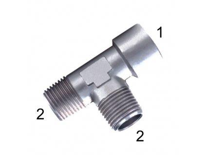 """T-šroubení s vnitřními závity G1/4"""" a vnějším R1/4"""""""